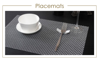 Placemats met en zonder bedrukking